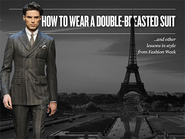 How to Wear A Double-Breasted Suit