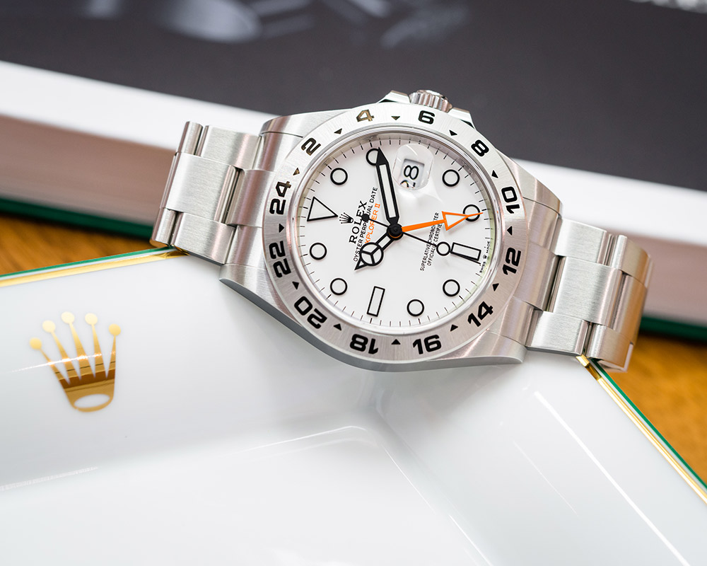 Rolex also upgraded the Explorer II, whose polar white dial and 24-hour bezel make it a cult favourite, with a new Calibre 3285 movement and an upgraded Oyster bracelet.